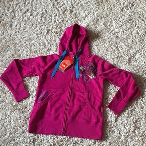 NWT The North Face Full Zip Jacket, Fuschia Pink M